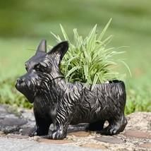 Cute Scottie Dog Planter Pot Plant Flower Box Garden Sculpture 13.5''L X... - $37.62