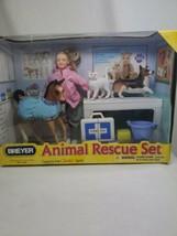 2010 Breyer Animal Rescue Set 1:12 scale Doll & 3 animals Age 4+ dinged box - $23.36