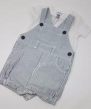 absorba Baby Boy Shortall Set White/Gray, 3-6 Month - $23.99