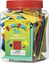 Dowling Magnets Foam Fun Magnet Tangrams, 56 Per Pack, 3 Packs - $65.92