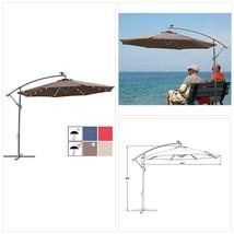 SUNBRANO 10ft Solar Power LED Outdoor Cantilever Patio Umbrella, Offset ... - £183.35 GBP