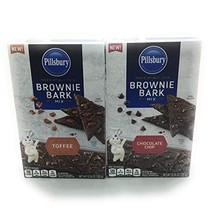 Pillsbury Brownie Toffee and Chocolate Chip Brownie Bark Mix 10.58 oz Each - $21.53