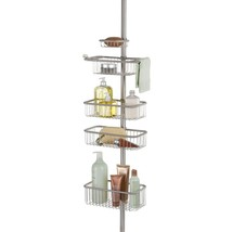 InterDesign Forma Metal Wire Tension Rod Corner Shower Caddy, Pole, and ... - $77.83