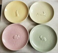 Hallmark Creations Easter Salad Plates 4 Pastel Colors Amscan  - $93.49