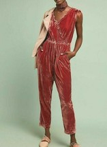 Anthropologie Great Velvet Jumpsuit by Birds of Paradis by Trovata $299 ... - $125.99