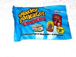 """Wacky Packages Erasers Series2 """"SEALED PACK"""" W/ 3 Erasers & 3 Matching Stickers - $4.99"""