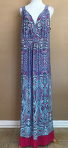 New Directions Plus 1X Dress Sleeveless Paisley Bright Colors - $18.80