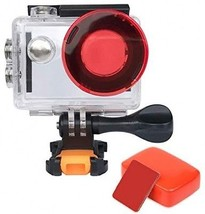 VVHOOY Action Camera Waterproof Housing Case With Red Filter And Floaty... - $45.44