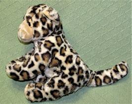 "Fiesta LAZYBEANS SNOW LEOPARD Plush Stuffed Animal Sitting 10"" Wild Cat ... - $18.70"