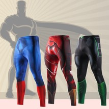 Men 's new sports fitness compression long pants. - $46.92