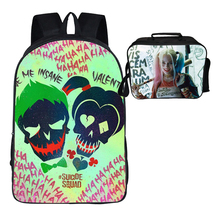 Suicide Squad Backpack Package Summer Series Lunch Bag Graffiti Pattern - $41.99
