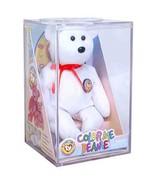 Official Color Me Beanie Teddy Bear Ty Beanie Baby BBOC Kit in Clear Cas... - $26.68