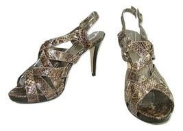 Bandolino Platform Ankle Strap Shoes Strappy Brown  Animal Print Womens ... - $11.87