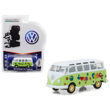 1964 Volkswagen Type 2 Samba Bus Hippie Peace and Love Light Green with ... - $14.20