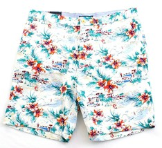 Tommy Hilfiger Tropical Floral Print Flat Front Cotton Shorts Men's NWT - $59.99