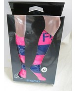Fodu Womens Compression Socks Sports Running Medical Support Pink Purple... - $13.85