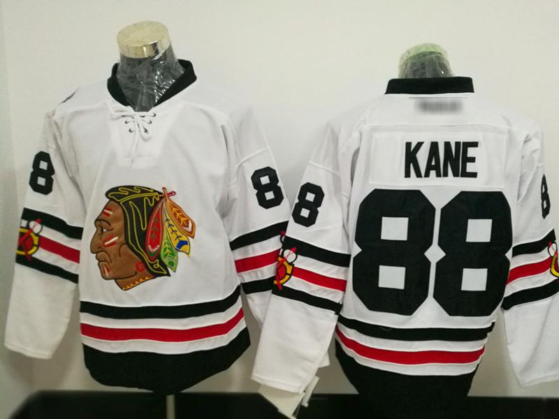 Men's Chicago Blackhawks Ice Hockey Jerseys, 88 Patrick Kane #White, used for sale  USA