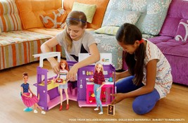 Barbie Food Truck Kids Girls Playset Pretend Play Toys Doll Vehicle Acce... - $56.09