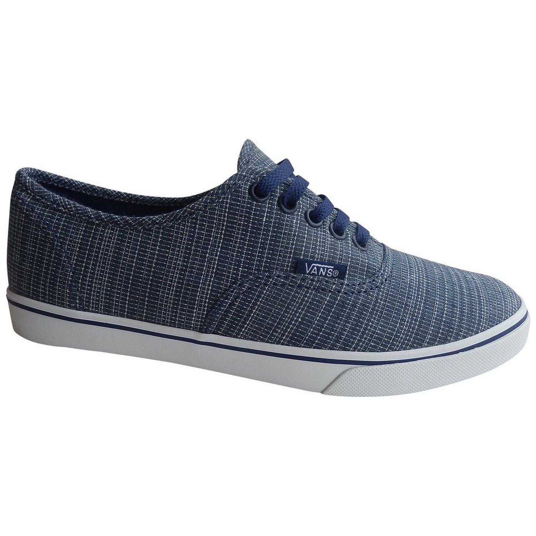 ebe9de9ac0bb8f VANS Authentic Lo Pro (Woven Chambray) Blue Casual Shoes WOMEN S 7.5 -   37.17
