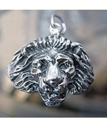 LOOK New King Lion Pendant charm Sterling silver 925 jewelry - $37.59