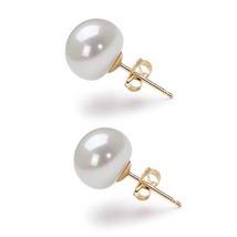 9-10mm AA Freshwater White Pearl Earring Studs ... - $19.99 - $24.99