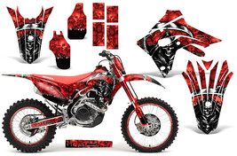 Custom MX Decal Kit with #Plate Honda CRF 450RX 17-21 Reaper Red - $279.95