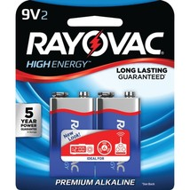 RAYOVAC A1604-2J 9-Volt Alkaline Batteries, 2 pk - $23.81