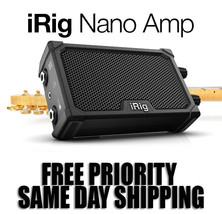 New! IK MultiMedia iRig  Nano Guitar Amp- iRig  Plus Self Contained Guit... - $49.99