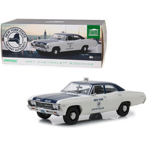 1967 Chevrolet Biscayne Cream and Blue New York State Police 1/18 Diecas... - $84.95