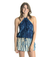 Sz S NEW Planet Blue Life Island Halter Low Back Cover-Up Dress in Blue ... - $156.42