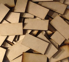 40mm x 45mm MDF Wood Bases Laser Cut Crafts Rectangles FAST SHIPPING US ... - $3.22