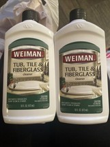 2 Weiman Tub Tile & Fiberglass Cleaner Discontinued Bathrooms, RVs, Boats, Sinks - $29.70