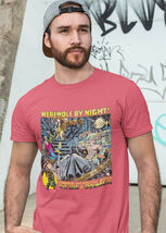 Werewolf by Night T Shirt Legion of Monsters Vintage 1970s Marvel Comics red tee image 3