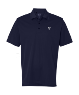 Polo Shirt by Adidas with Golf Ball and Tee Emblem Blue New - $64.99