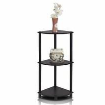 Accent Corner Shelf Table End Side Modern Wood 3-Tier Sofa Pedestal Livi... - $25.96