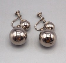 Vintage Silvertone Screw On On Earrings 1950's 1960's - $18.80