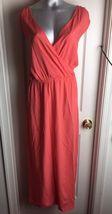 Old Navy Melon -Sundress Dress Surplice Bodice -Cinch Waist-Maxi Size XL - €17,66 EUR