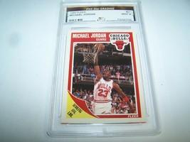 MICHAEL JORDAN 1989 FLEER # 21 GRADED FIVE Star GRADING 9 (MINT) RARE HO... - $19.80