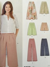 Simplicity Sewing Pattern 8092 Misses Skirt Pants Shorts Size 6-14 New - $14.77