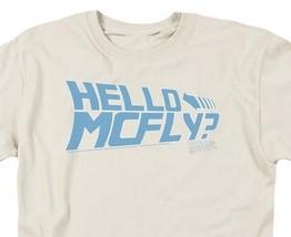Back to the Future Retro 80s Sci-Fi Classic Hello McFly T-shirt Doc Brown UNI366 image 2