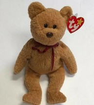 "TY Beanie Babies CURLY Brown Bear Plush 1996 Vintage 8"" - $8.81"