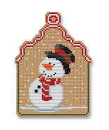 Christmas Snowman Ornament Kit cross stitch Colonial Needle  - $13.50