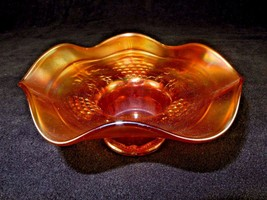 Northwood Carnival Glass Hat Vase ~ Iridescent Amber ~ Bouquet, Potpourr... - $58.75
