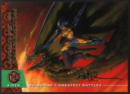 Dave DeVries SIGNED X-Men Art Trading Card ~ Wolverine Sauron 1994 Fleer Ultra - $19.79