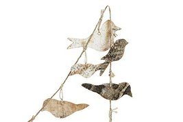 Creative Co-op Bird Shaped Birch Bark Garland image 2