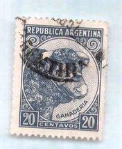Used Argentina Postage Stamp (1942) 20 cent Ganaderia (Taurus) - Scott C... - $2.99