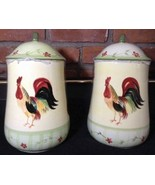 Pfaltzgraff Rooster Cookie Jar 'Day Break' Retired Large Sealed Canister - $79.19