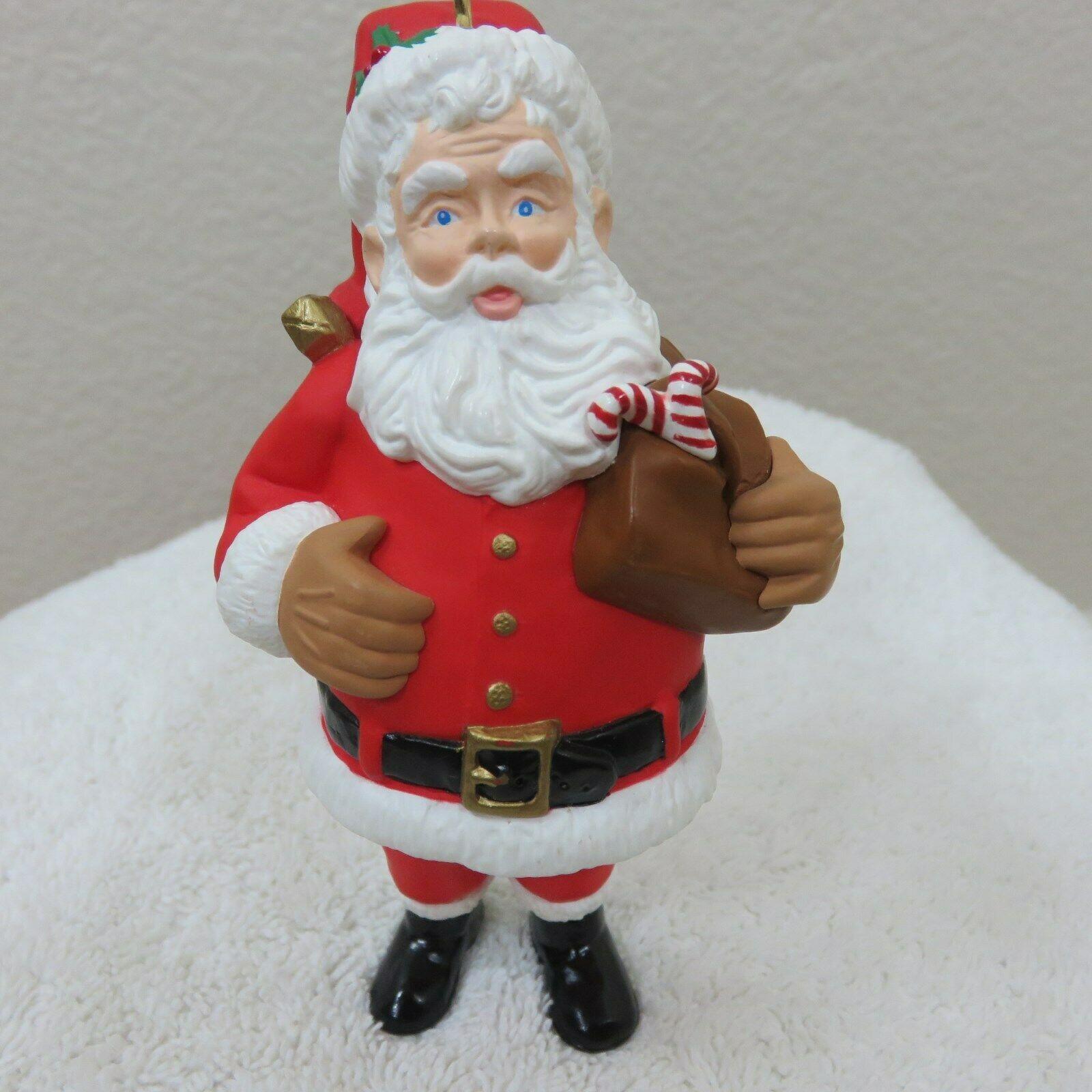 Vintage 1996 Hallmark Keepsake Ornament Santa in Original Box image 10