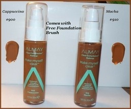 NEW Almay Clear Complexion Make Myself Clear Makeup #900 Cappuccino  #91... - $7.95