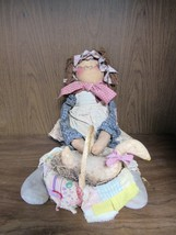 """Attic Babies """"Goosey Lucy"""" by Marty Maschino, Signed, Collectible Ragdoll - $39.95"""